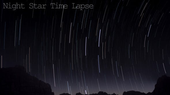 Thumbnail for Night Star Time Lapse