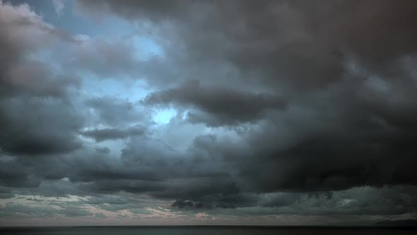 Storm Clouds on the Sea
