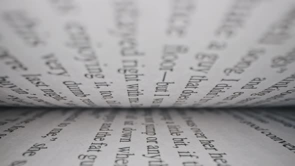 Thumbnail for Macro View Inside Book Slide Dolly Shot with Laowa Probe Lens. Camera Moves Between Paper Book Pages