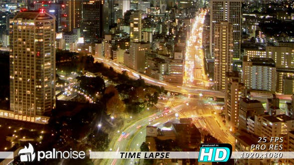 Thumbnail for Car Driving City Highway Night, Time Lapse