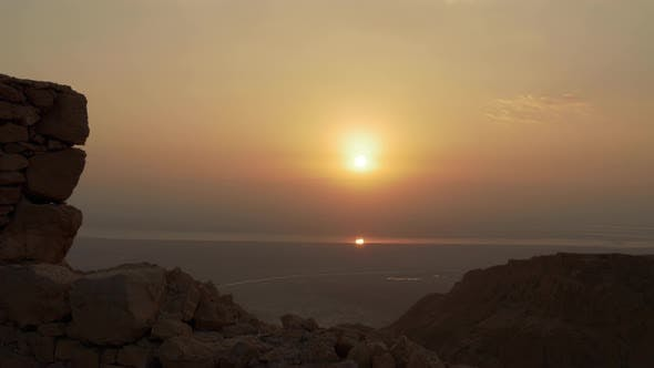 Thumbnail for Sun Reflected at Dead Sea Water at Morning Sunrise
