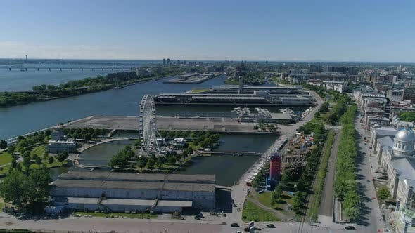 Thumbnail for Aerial view of the Old Port of Montreal