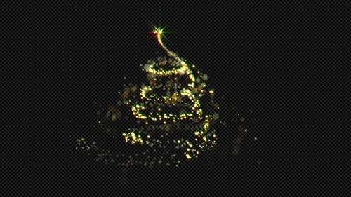 Magic Christmas Particles Tree