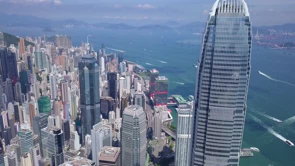 Thumbnail for Drone fly over Hong Kong urban cityscape