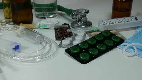 Thumbnail for Medical Equipment On The Table In The Hospital