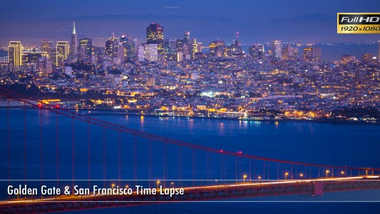 Thumbnail for Golde Gate & San Francisco Time Lapse
