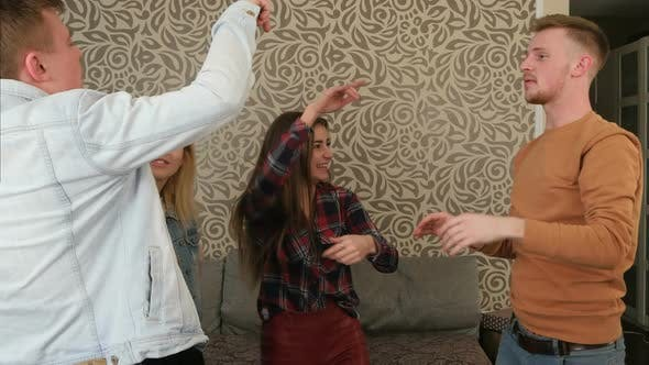 Thumbnail for Friends Dancing at a Party at Home