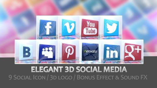 Thumbnail for Élégant médias sociaux 3D