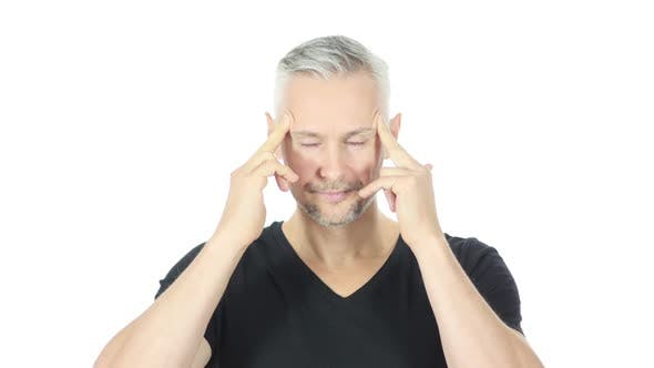 Thumbnail for Frustrated, Upset Middle Aged Man with Headache