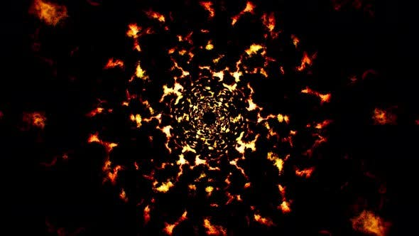 Abstract Fire Spread Out Particles Loop 4K