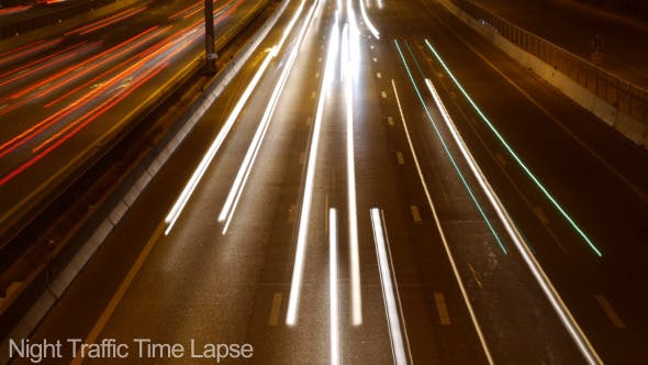Thumbnail for Night Traffic Time Lapse