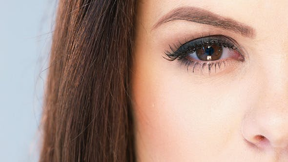 Thumbnail for Close Up on Eye of Brunette Beautiful Girl
