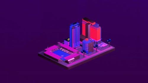 Isometric stadium between cities