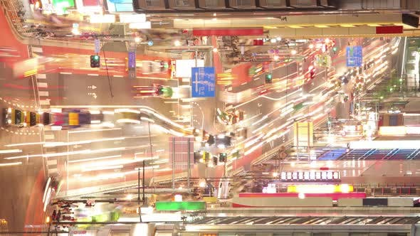 Thumbnail for Busy Street In Tokyo Time Lapse Vertical