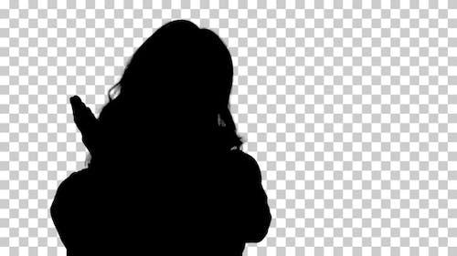 Silhouette woman, Alpha Channel