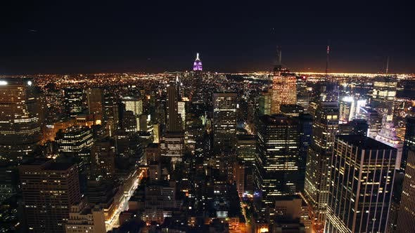 Thumbnail for Circa-2007, 4K time lapse shot of New York City skyline at night