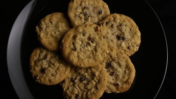 Thumbnail for Cinematic, Rotating Shot of Cookies on a Plate - COOKIES