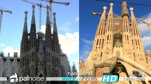 Sagrada Familia Barcelona Time Lapse (2-Pack)