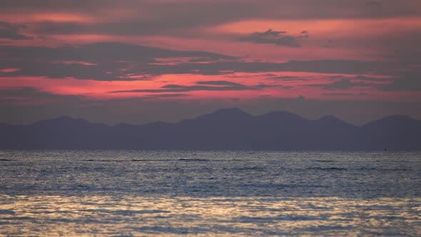 Thumbnail for Long Tail Boats in the Sea at Sunset, Thailand