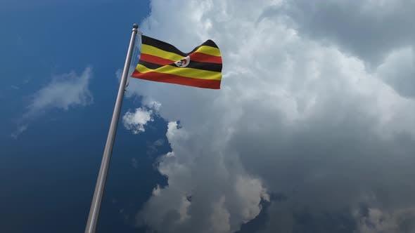 Uganda Flag Waving 4K