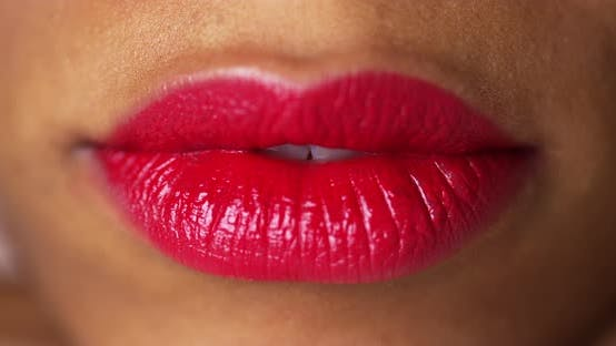 Thumbnail for Cloesup of red lips