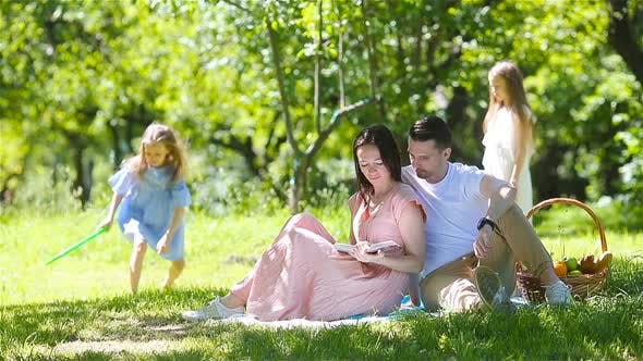 Thumbnail for Happy Family on a Picnic in the Park on a Sunny Day