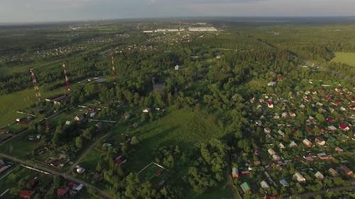 Flying Over Dacha Communities in Russia