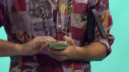 Funny Man Scatter Money