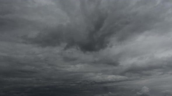 Thumbnail for Time Lapse, Beautiful Storm Sky With Clouds Background
