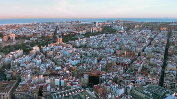 Thumbnail for Aerial View. Epic Valencia, Spain, Entire City.