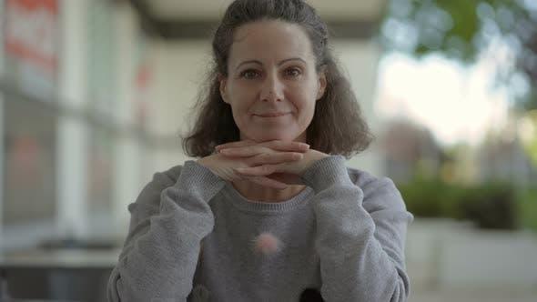 Thumbnail for Happy Mature Woman Looking at Camera
