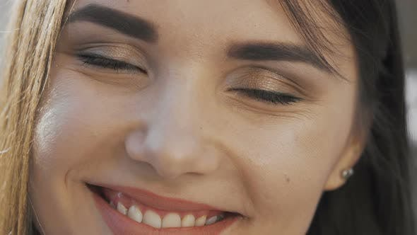 Thumbnail for Cropped Shot of a Beautiful Happy Woman Smiling