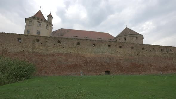Fagaras Fortress Seen from Outside