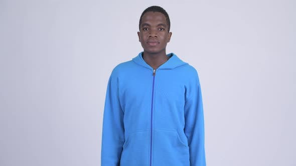 Thumbnail for Young Handsome African Man Wearing Blue Hoodie
