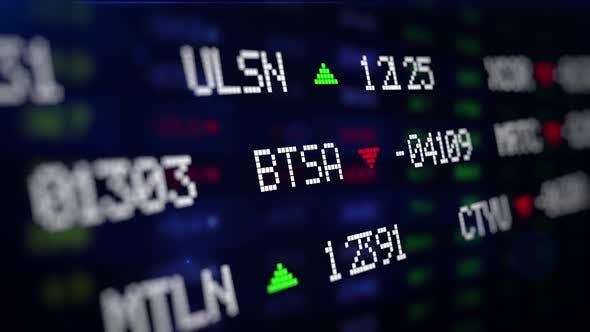 Stock Market Exchange Data Board