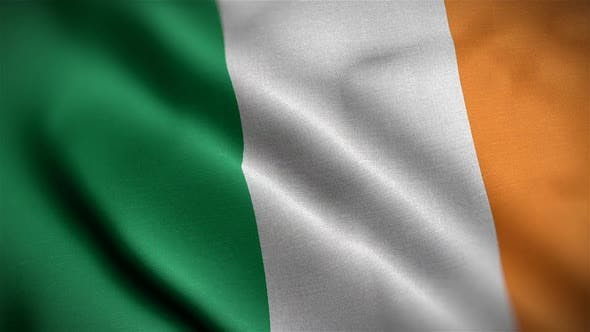 Thumbnail for Ireland Flag Closeup Blowing In Wind