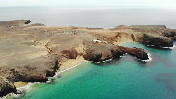 Scenic View of Papagayo Beach on Island of Lanzarote