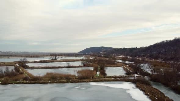 Thumbnail for Frozen Lake Winter Aero Drone Video