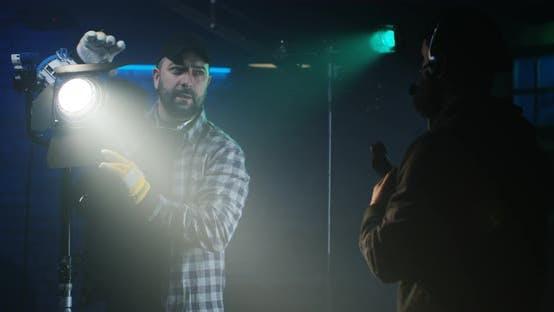 Thumbnail for Film Crew Testing Light Equipment