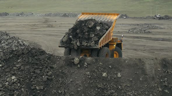 A Giant Lorry Is Dropping Coal