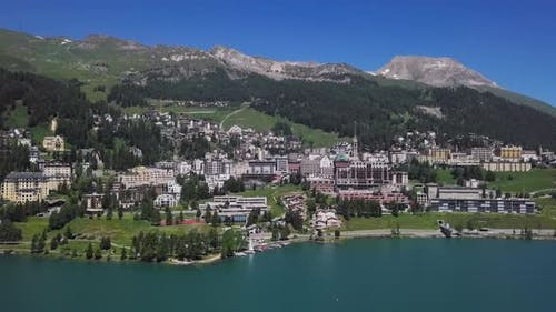 Aerial View of St. Moritz, Switzerland