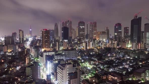 Thumbnail for Shinjuku Cityscape Night Time Lapse