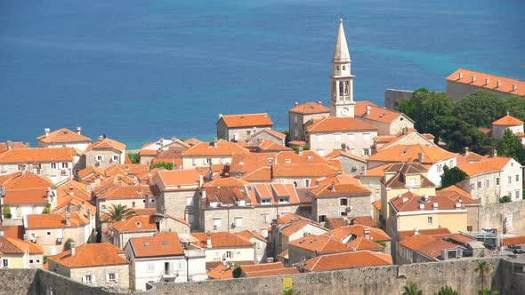 Thumbnail for Old Adriatic City of Budva with Picturesque Buildings in Montenegro