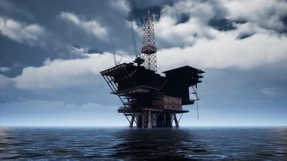 Großer Pazifischer Ozean Offshore-Bohrplattform