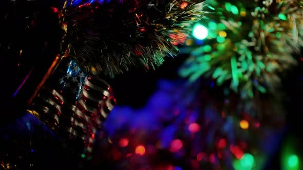 Thumbnail for Toy in the Form of an American Flag on a Christmas Tree