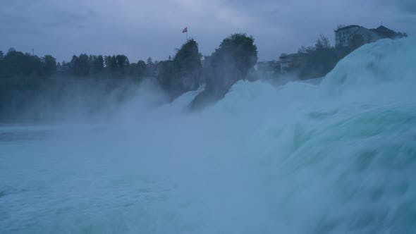 Thumbnail for Morning View with Powerful Rhine Falls