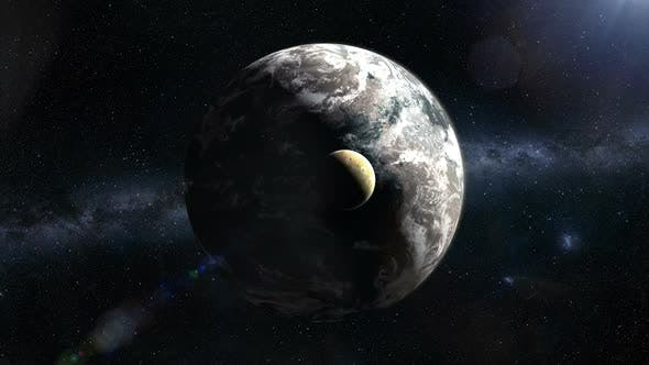 Distant Exoplanet and Moon