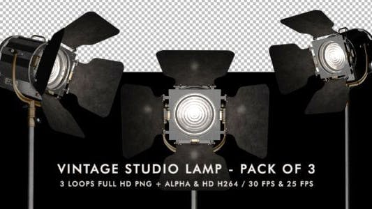 Thumbnail for Vintage Studio Lamp - Pack of 3