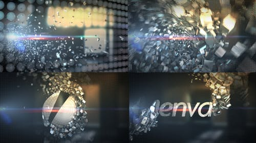 Metallic Crystal Logo Text Reveal