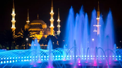 The Blue Mosque in Istanbul at Night
